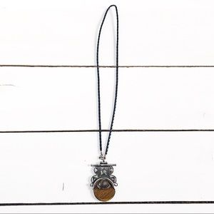 Urban Outfitters Stone Pendant Necklace Silver